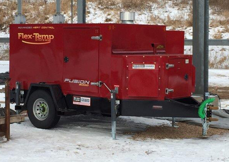 Flex-temp winter construction equipment, thaws the ground and warms/cures concrete to allow for faster and easier construction in the winter months.