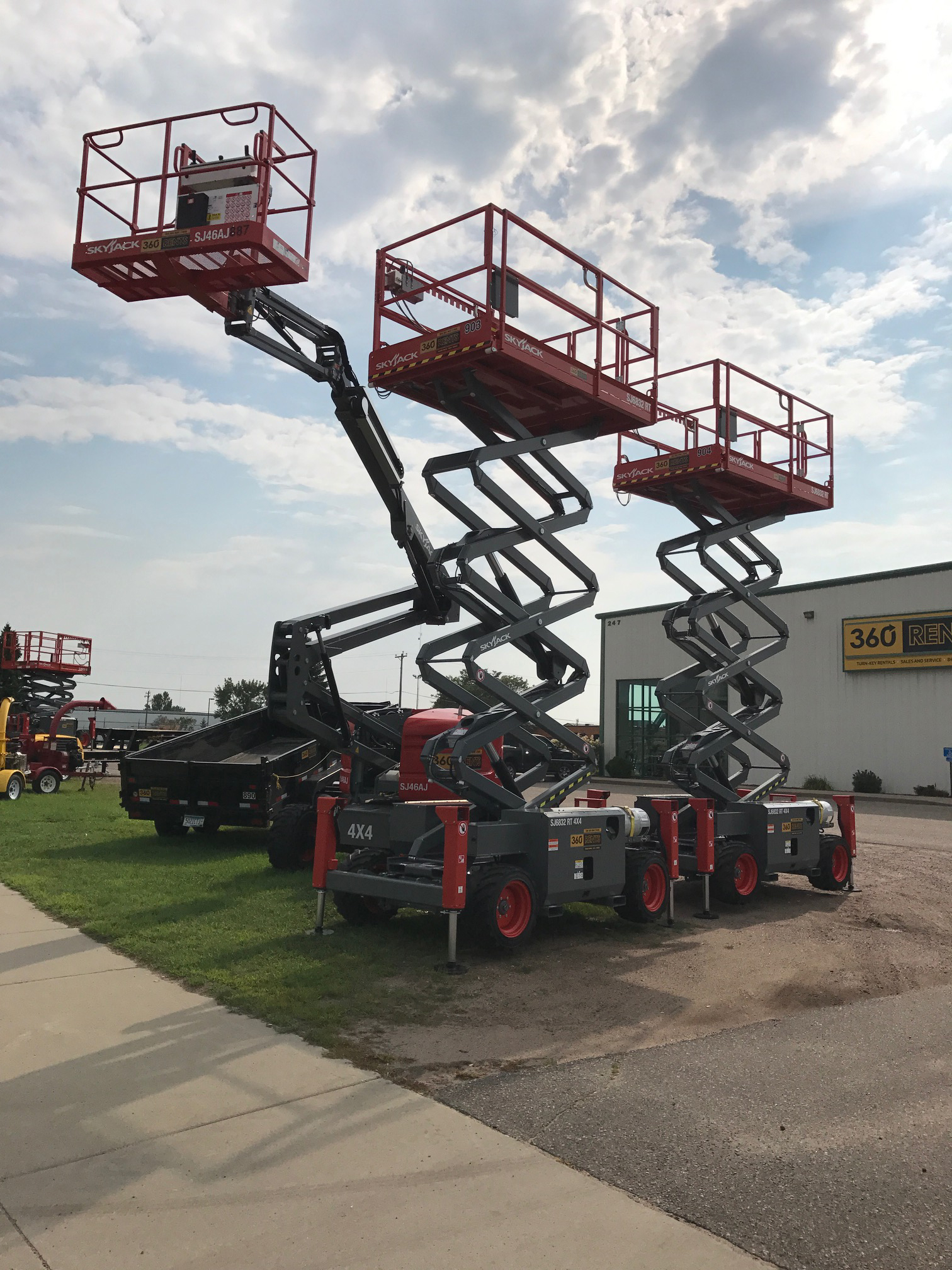 SkyJack Lift rented from 360 Rents